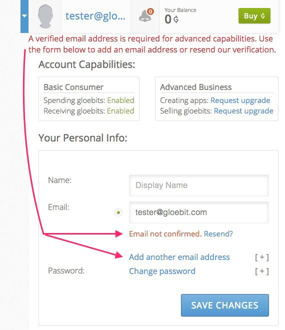 A verified email is required.  Add and confirm an email address from the Personl Info section.